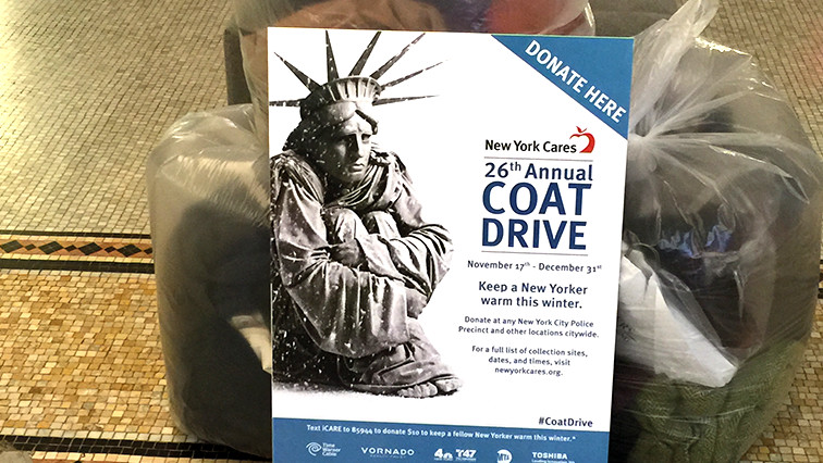 Collecting coats to help New York